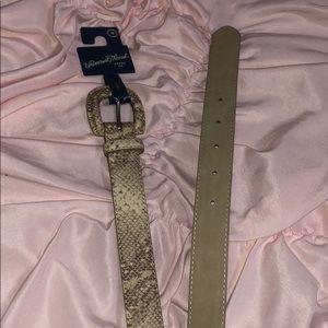 snake skin belt (vegan)
